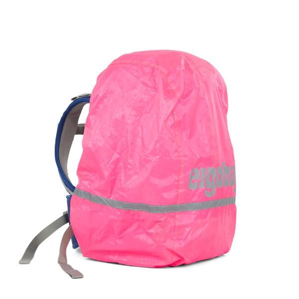 Светлоотразителен дъждобран за раници Ergobag Shiny Pink в розово