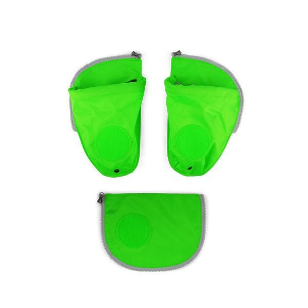 Комплект външни джобове за детска раница в зелено