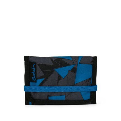 Портфейл за тийнейджър в стилно черно-синьо