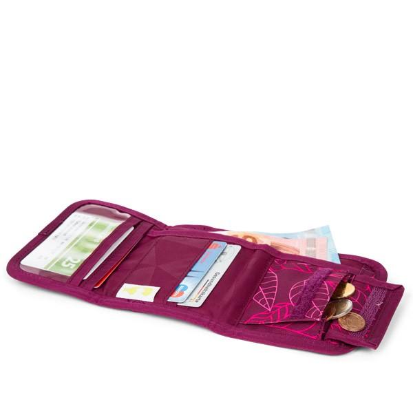 Портфейл за тийнейджър в свежи лилави цветове Purple Leaves