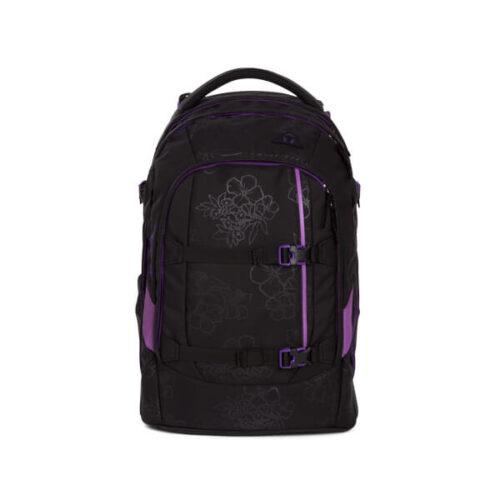 Ученическа раница в лилаво и черно