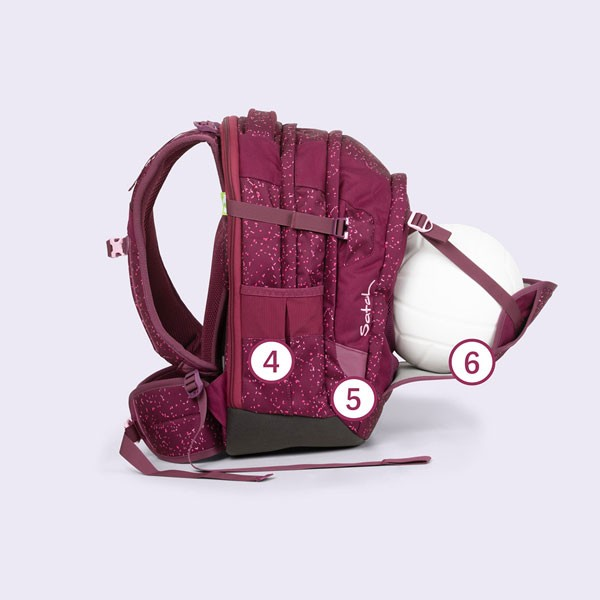 ученическа раница с разтягащ се преден джоб