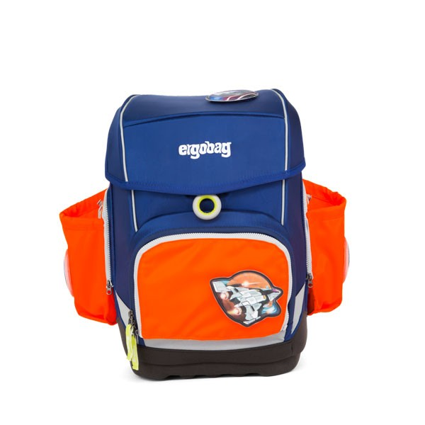 Ученическа раница с комплект с външни джобове в оранжево