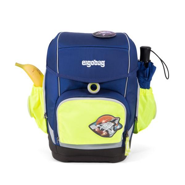 ученическа раница с комплект със светоотразителни външни джобове в жълто