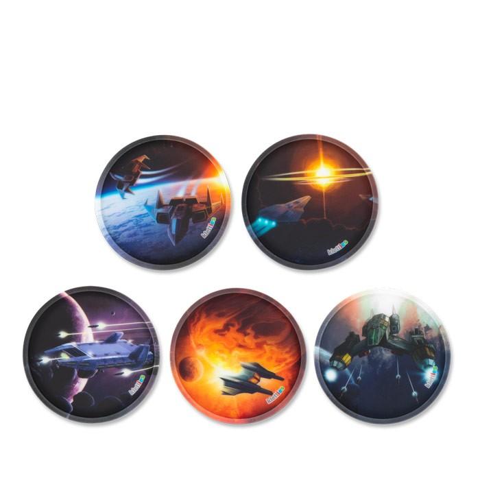 стикери за раница Galaxy с космически кораби
