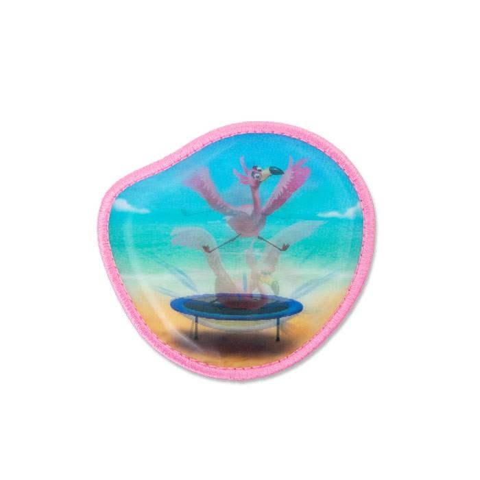 променящ се стикер за раница Flamingo