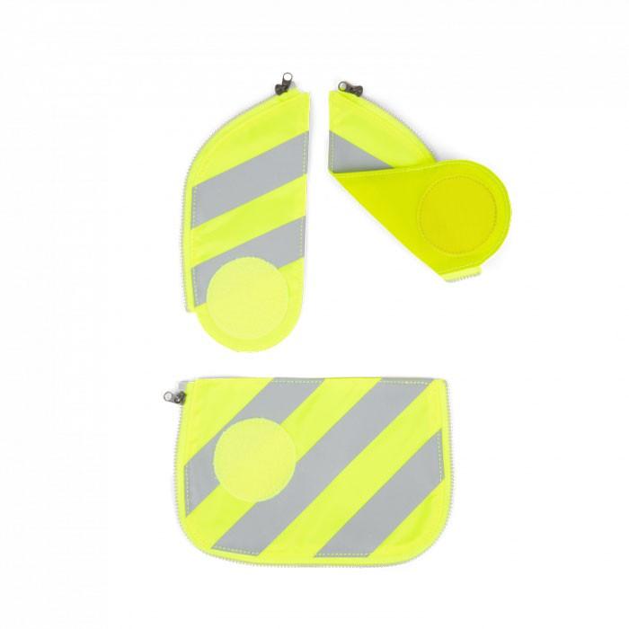 светлоотразяващ комплект в жълто с ленти
