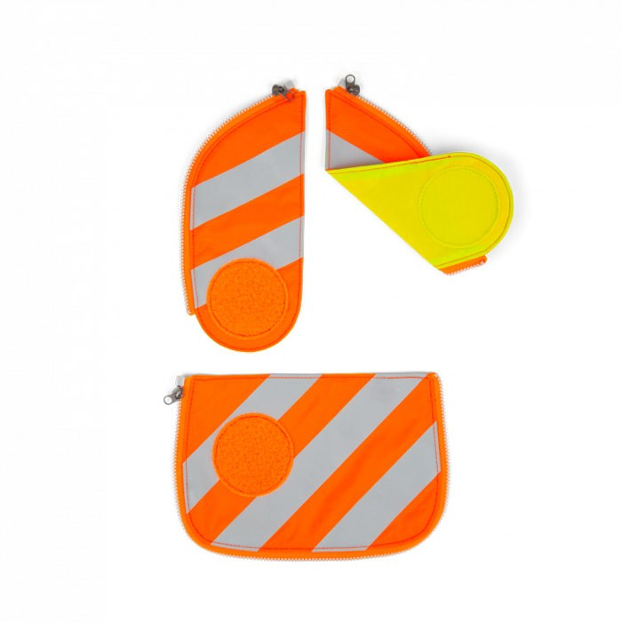 светлоотразяващ комплект в оранжево с ленти