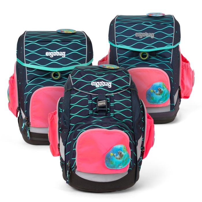 светлоотразяващ комплект с 2 външни джоба в розово за ученически раници