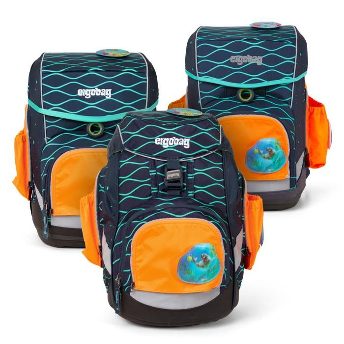 светлоотразяващ комплект с 2 външни джоба в оранжево за ученически раници