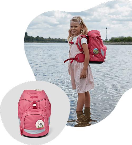 екологична ученическа раница за момиче