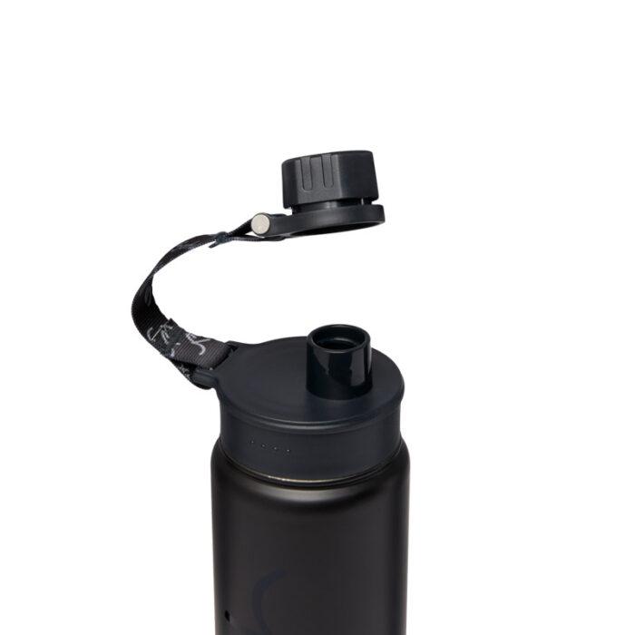 метална бутилка за вода satch Black Steel
