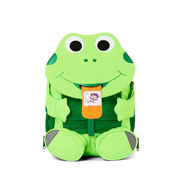 раница за детска градина affenzahn Large Friend Frog Neon