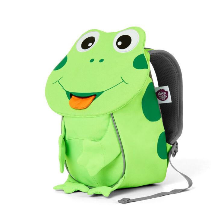 раница за детската ясла affenzahn Small Friend Frog Neon