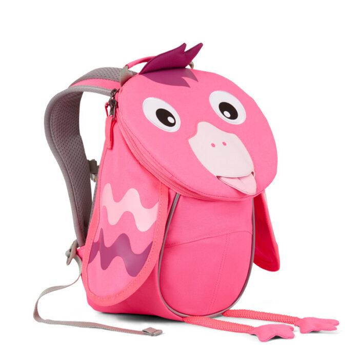 раница за детската ясла affenzahn Small Friend Flamingo Neon