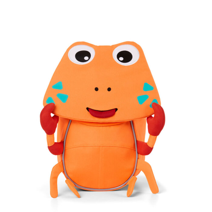 раница за детската ясла affenzahn Small Friend Crab Neon